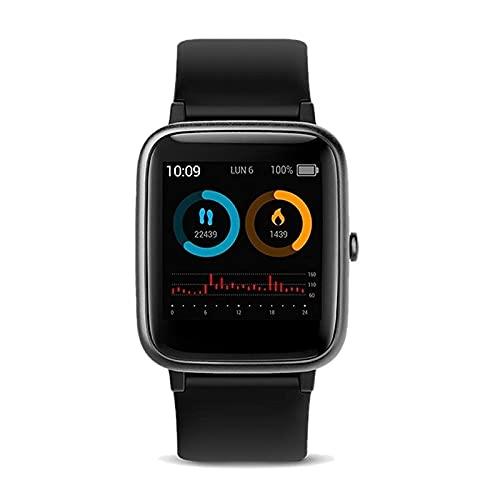 SPC Smartee Vita - Smartwachat Waterproof 5ATM, monitoriza hasta 11 Deportes, autonomía de hasta 12 días. Color Negro