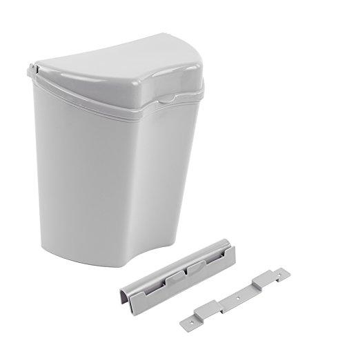 HABA Abfalleimer grau, inkl. Halterung, kompaktes Maß (30 x 27 x 16), ideal für Camping