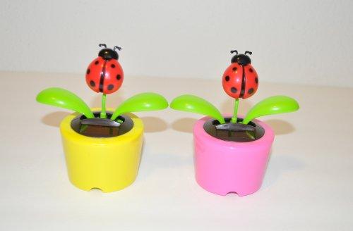 4¼' Plastic Solar-Powered Dancing Ladybugs, Pack of 2