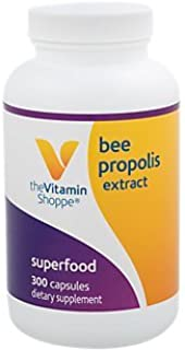 The Vitamin Shoppe Bee Pollen Extract 250MG, Superfood with Bee Propolis and Royal Jelly, Seasonal Immune System Support (...