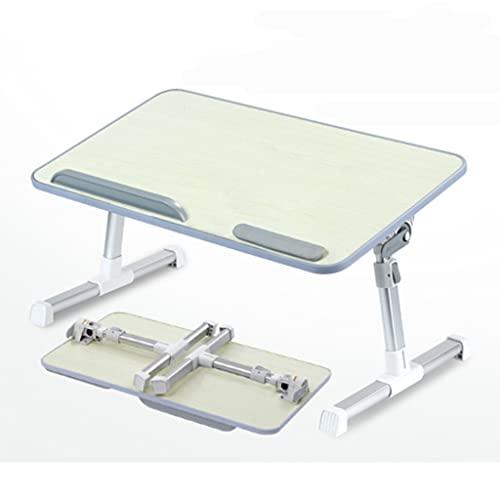 SONG Mesa de Escritorio portátil Mesa Plegable Mesa de elevación Cama Perezosa con Mesa Plegable Mesa pequeña portátil