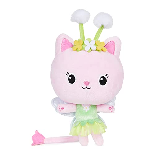 Gabby's Dollhouse, 7-inch Kitty Fairy Purr-ific Plush Toy, Kids Toys for Ages 3 and up