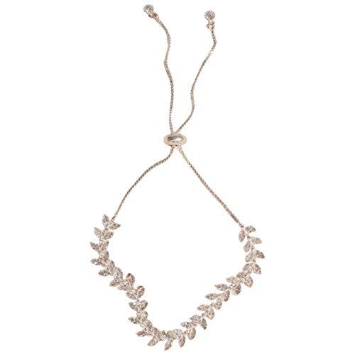 David's Bridal Leafy Vine Cubic Zirconia Adjustable Bracelet Style 150223B, Silver