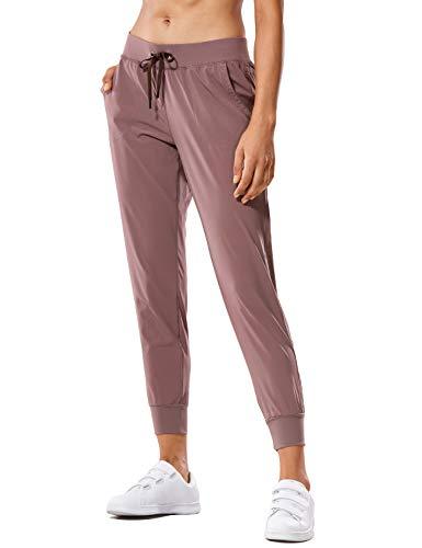 CRZ YOGA Pantalón Deportivo Mujer con Bolsillos Pantalones Harem con Cordones Malva 40