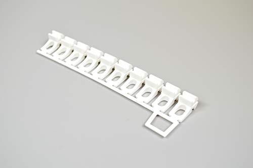 Rollmayer glänzend Weiß Gardinenschiene ALU 2, 3, 4, 5-läufig Deckenbefestigung (nur 10 x Ösengleiter) Aluminium Vorhangschiene für Schiebevorhang Vorhang, Gardinen