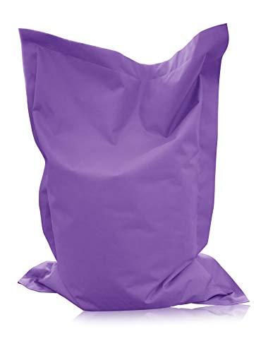 alibey Pouf rectangulaire pour enfant, coussin d'assise géant, 15 couleurs, pour l'intérieur et l'extérieur, lilas, XL = 145 x 100