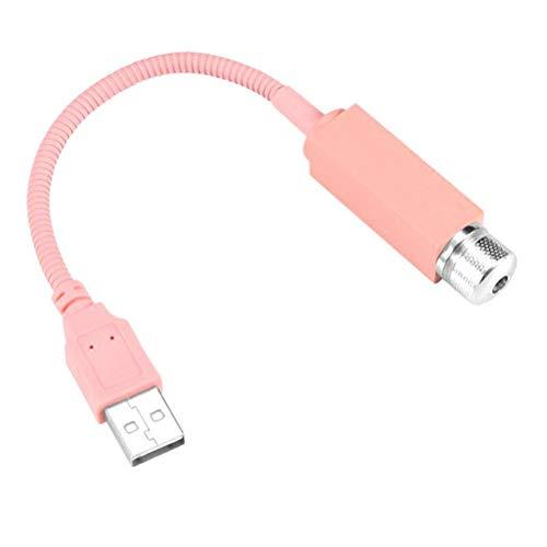 Sternennachtlichtprojektor Plug & Play Auto- und Heimdecke Romantisches USB-Nachtlicht Dachbeleuchtung Atmosphären Dekoration Glasfaser Sternendeckenkit Licht (Pink, 1 Pack)