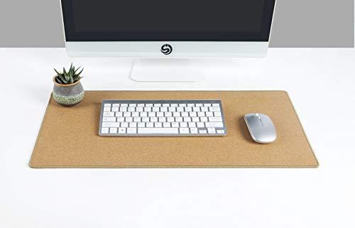 "YSAGi Multifunctional Office Writing Cork Desk Pad, Waterproof & Slipproof Desk Protector Mat for Office/Home (23.6""x11.8"")"