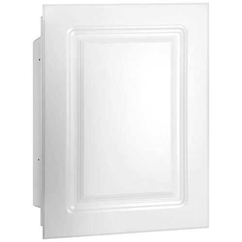Mirrors and More Recessed White MDF Panel Medicine Cabinet | Adjustable Shelves | Bathroom | Kitchen | 16