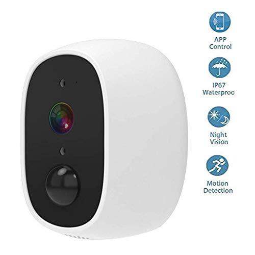 YJJ WiFi Kamera, Indoor/Outdoor-Überwachungskamera, Kugelüberwachungskameras mit 2-Wege-Audio, präziser Bewegungserkennung, Weitwinkelbereich Nachtsicht