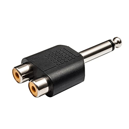 CHYSP 6,5 mm a Adaptador de micrófono Stereo Guitar Audio Audio CHAPT Mezclador 6.5 Mono Interface