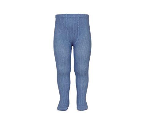 Leotardos basicos acanal azul francia 0-6 meses