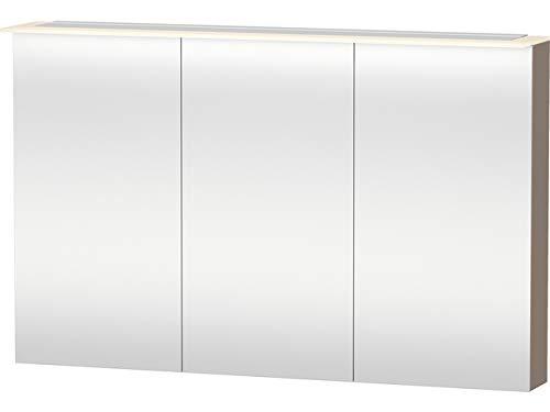 Duravit Spiegelschrank X-Large 138x120x760mm 3 Spiegeltüren, LED, cappuccino hgl, XL759608686