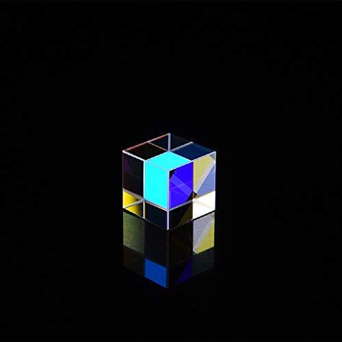 youfenghui X-Cube Optisches Glas Dichroic Cube Prisma, Optisches Glasdispersionsprisma, für Physikunterricht/Fensterdekoration/Lichtspektrum/Fotoeffektdekoration (0,5 x 0,5 x 0,5 Zoll)