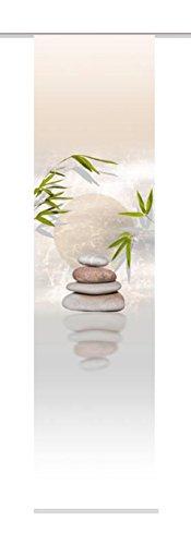 Home Fashion 87406-711 Benessa - Panel japonés con impresión Digital (con rieles y sujeciones, 245 x 60 cm), diseño de Naturaleza