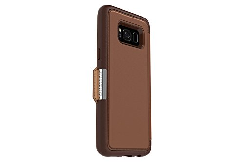 Otterbox Strada Series for Samsung Galaxy s8 - Retail Packaging - Burnt Saddle (Burnt Saddle/Chapshair Leather)