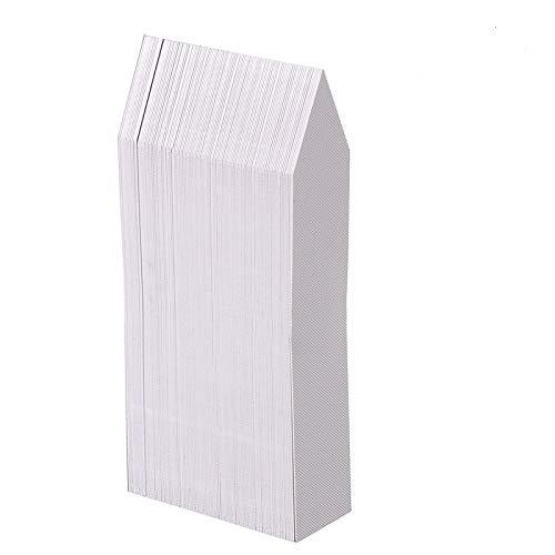 KINGLAKE 100Stk Plastik Pflanzenstecker Weiß Pflanzschilder Stecketiketten 10x2CM Beschriften Pflanzen etiketten für AlleGärtner