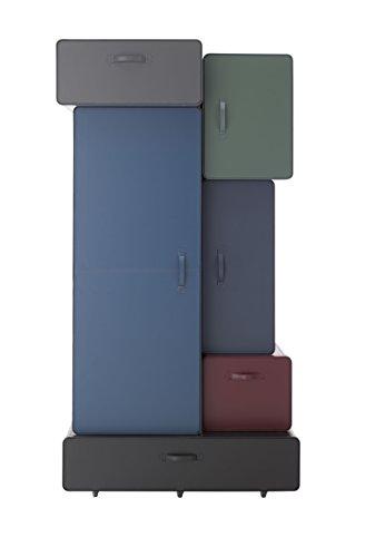 L'Aquila Design Arredamenti Casamania - Mueble armario Valises con estructura de cuero degradado multicolor