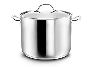 """Type: large pot / induction pot """"Gigantos"""" including lid with steam outlet - cooking for the whole family / Dimensions: Diameter 26 cm;. Height 19 cm; Capacity 9.5 liters Material: high quality stainless steel pot - suitable for all hobs incl. induct..."""
