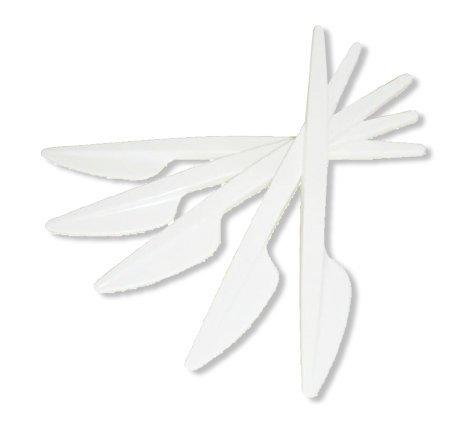 Pfiff-kus 501/20 bestek plastic mes, wit