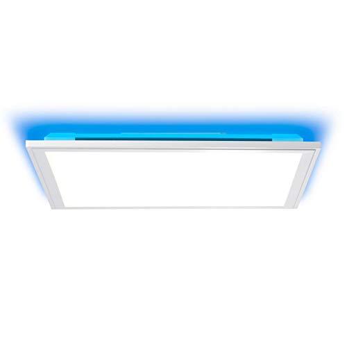 BRILLIANT lamp Alissa LED plafondpaneel 40x40cm zilver/wit |1x 32W LED geïntegreerd (Samsung chip), (2500lm, 2700-6200K) |Schaal A ++ tot E |Oneindig dimbaar