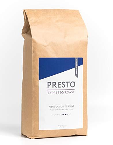 Presto Café Espresso - Mittelgeröstete Kaffeebohnen für die Perfekte Tasse Espresso - 100% Arabica - 1KG