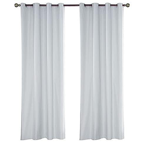 ANCLLO 1 panel blanco cortinas exteriores para patio impermeable extra ancho 137 x 213 cm cortinas opacas al aire libre para porche pérgola cenador piscina