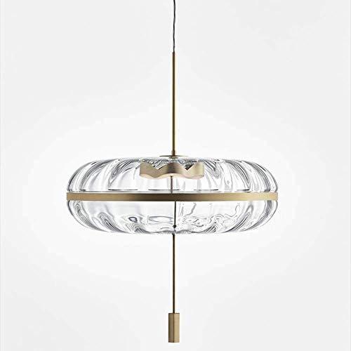 ZANYUYU Después de una ronda moderna luz minimalista restaurante araña modelo nórdico dormitorio cabecera tienda de ropa 35 cm de diámetro lámparas de cristal adornar la vida