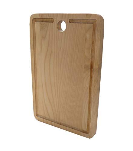 Tabla de cortar de madera de NataWood, tabla de cortar de abedul con agujero (7.9 pulgadas 11.8 pulgadas 0.7 pulgadas)