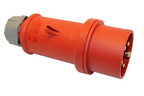 MENNEKES CEE Stecker 16A; 5-polig 6h 400 V Starkstrom Stecker Industriequalittät