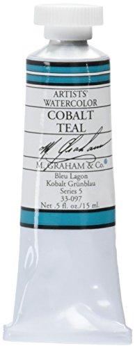 M. Graham 1/2-Ounce Tube Watercolor Paint, Cobalt Teal