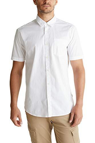 ESPRIT Herren 030EE2F301 Hemd, Weiß (100/White), L