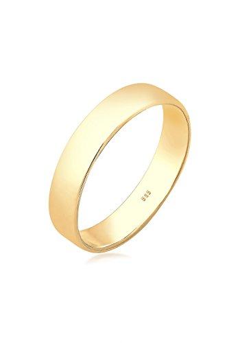 Elli Premium Damen-Dezenter Freundschaftsring 14_k_(585) Gelbgold mit '- Ringgröße 54 (17.2) 0610442017