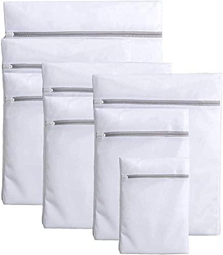 洗濯ネット 細かい綱目 8ピースセット(1XL+3L+3M+1S) コート/セーター/T-シャツ/ブラジャーなど適用 丈夫 耐久性 旅行 収納ネット 家庭用 ランドリー ネットバッグ 洗濯袋 ウォッシュ バッグ
