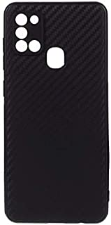 Samsung Galaxy A21s Case Cover Carbon Fiber Design TPU Black Soft Slim Flexible Shock Absorbent Protective Case Cover for ...