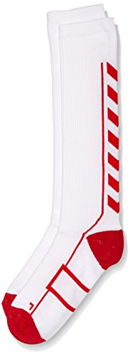 Hummel Tech Indoor Sock High, White/True Red, 12