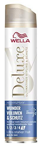 WELLA Deluxe Haarspray Wunder Volumen und Schutz ultra stark, 250 ml