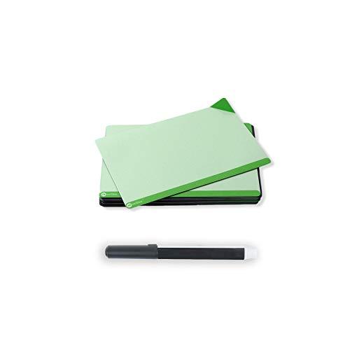 Rewrities Notes - 24 tarjetas magnéticas de borrado en seco de 10 x 15 cm, notas reutilizables con marcador de pizarra blanca para tareas, planificación, proyectos, organización (verde)