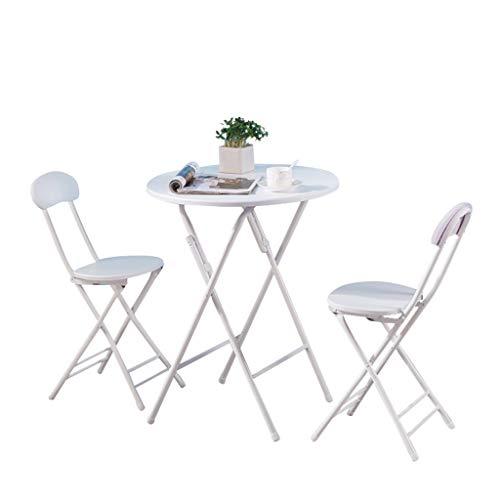 Conemmo Mesa plegable pequeña mesa de comedor redonda casa 2 personas pueden almacenar mesa simple para comer IKEA mesa al aire libre y sillas mesa redonda simple