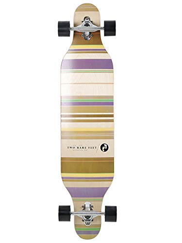 Two Bare Feet TBF 821 Complete Longboard 42in x 9.5in Cruiser Skateboard...