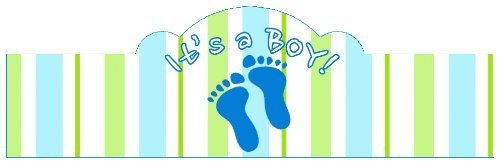 It's a BOY! (Baby Feet) 20 Pack of Self-Adhering Cigar Bands / Labels