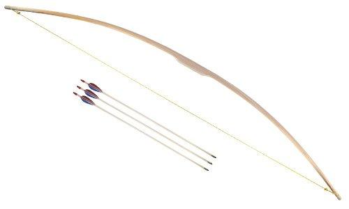 Holzspielerei Bogen f. Erwachsene mit 3 Pfeilen