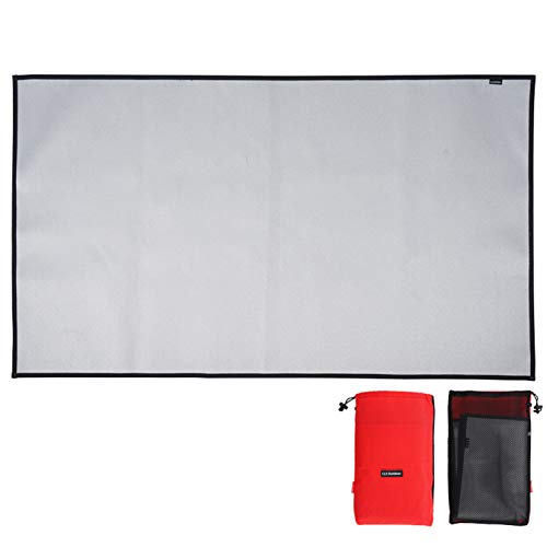 Fireproof Mat for Fire Pit for Wood Burner -46X35cm/60X53cm/100.5X60cm, Picnic Barbecue Heat Insulation Pad, Flame Retardant and High Temperature Resistant Silicone Coated Fiberglass Fire Blanket