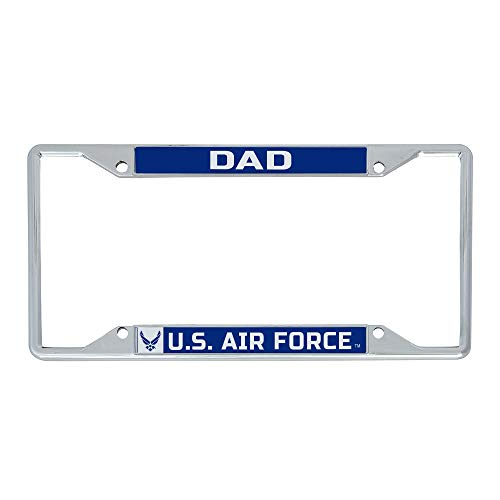 Desert Cactus US Air Force Dad License Plate Frame for Front or Back of Car Officially Licensed United States (Frame - Dad)