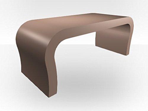 Zespoke Tavolino da caffè, Design Curvo Cappuccino Gloss