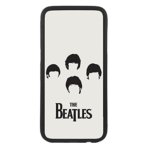 afrostore Funda Carcasa de móvil para Apple iPhone 7 Plus Grupo Beatles Pop Rock TPU Borde Negro