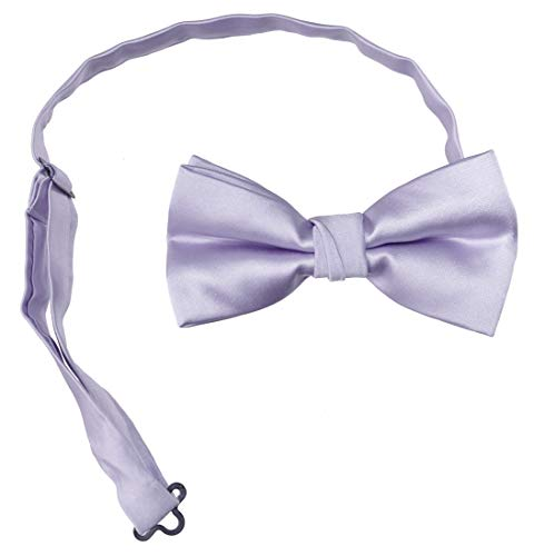 Tuxgear Mens Pre Tied Bow Tie with Adjustable Neck Strap Adult, Lavender, Men's (Lavender, Men's)