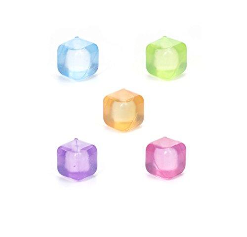 Kikkerland cubitos de hielo, plástico, multicolor (Azul / rosa / verde / naranja / púrpura), 16.3x 2.8x 13.8cm