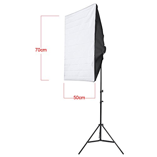 Photography Studio Portrait Product Licht Verlichting Tent Kit Foto Video Equipment (2 * Softbox + 2 * 5in1 Light Socket + 10 * 45W Bulb + 2 * Tripod Stand + 1 * draagtas) Anglo Port 220V Accessory Eq
