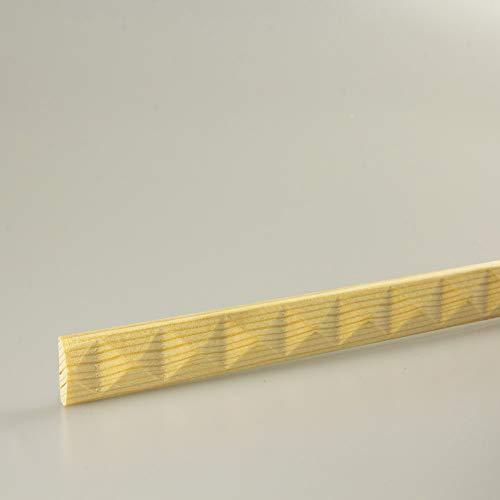 Schnitzleiste Prägeleiste Profilleiste Zierleiste Abschlussleiste Bastelleiste aus geschnitztem Kiefer-Massivholz 1500 x 16 x 5 mm